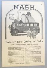 Original 1927 Nash Special Six 4 door Sedan Ad DECISIVELY FINE QUALITY & VALUE