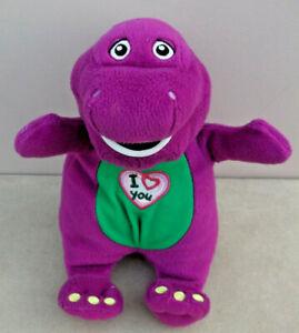 "2007 Barney The Dinosaur 10"" SINGING BARNEY 'I Love Song' Soft Plush Toy"