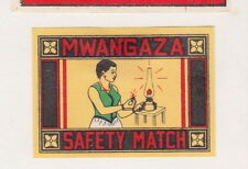 Anciennes étiquettes allumettes Inde BN21385 Femme Mwangaza