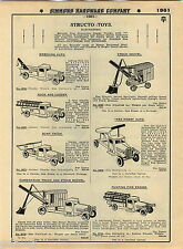 1935 ADVERT Structo Buddy L Toy Truck Steam Shovel Pull N Ride On Ice Tank