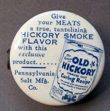 #1 OLD HICKORY SMOKE FLAVOR & LEWIS LYE Penn. Salt celluloid tape measure *