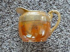 "VINTAGE HAND PAINTED JAPAN CREAMER SMALL PITCHER WITH LUSTER FINISH 3-1/2"" TALL"