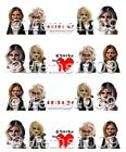 Bride of Chucky nail art water decals  Child's Play nail Decals Horror Nail Art