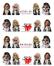 Bride of Chucky nail art water decals ~ Child's Play nail Decals Horror Nail Art
