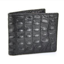 Body Skin 100% Genuine Crocodile Alligator Bifold Leather Men's Black Wallet