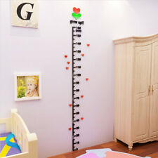 wallpaper stickers decor 3D height measure wall sticker for kids rooms