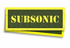 """SUBSONIC Ammo Can Labels for Ammunition Case 3"""" x 1"""" stickers decals 2 PACK -AG"""