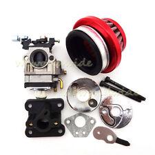 Racing Carburateur Kit Air Filter Stack Pour 47cc 49cc Mini Dirt ATV Pocket Bike