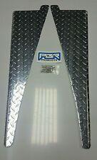 "JEEP CJ7 CJ5 CJ8 Scrambler DIAMOND PLATE FRONT FENDER TOP COVERS 45° bend 1/2"""