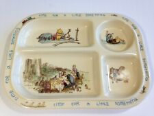 Winnie the Pooh Divided Plate Baby Tray Melamine Vintage Selandia Collectible