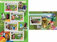 Francobolli tematici, di Guinea, tema calcio