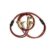 Audio Cable 2RCA to 2RCA Speaker Amp Wire Both-end 90 Degree Right Angle 2M