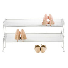Mesh Stackable Shoe Shelf from the Container Store