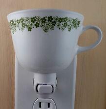 Corelle Corning Spring Blossom CRAZY DAISY Tea Cup Custom Made Night Light