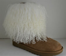 c144346f418 Mongolian lamb Fur Boot cuffs Natural white made in the usa