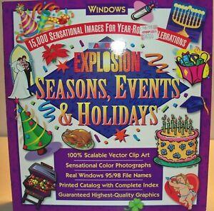 Art Explosion CD, Seasons Events & Holidays 15,000 Sensational Images Windows