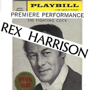 1959 Rex Harrison OPENING NIGHT Broadway Playbill Fighting Cock Roddy McDowall