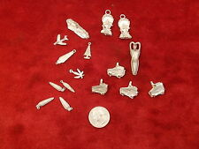 #8 of 21, Lot Of Hand Poured Pewter Or Pot Metal Arts & Crafts, Miniatures