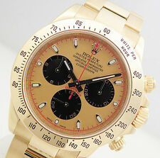 Rolex DAYTONA 116528 Mens 18K Yellow Gold Champagne Paul Newman Dial 40MM