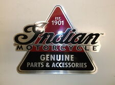 "7"" x 7"" ""Indian Motorcycles Genuine Parts & Accessories"" Triangler Sticker - NEW"