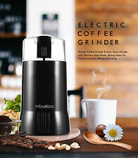 Mindcoo Electric Coffee Spice Grinder Maker Stainless Steel Mill Bean Grind USA