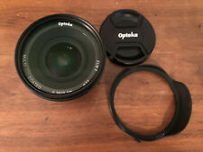 Opteka 12mm F/2.8 Lens MFT Micro 4/3 Mount With Caps, UV Filter And Hood BMPCC