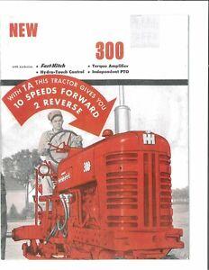 IH McCormick Farmall 350 w/ 2 Point Fast Hitch Tractor Color Brochure TA IPTO
