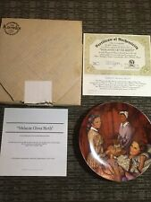 """��Plate Melanie Gives Birth + Box Brochure Coa """"Gone With the Wind"""" Knowles 1983"""