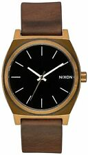 Nixon Men's Time Teller A0453053-00 37mm Black Dial Leather Watch