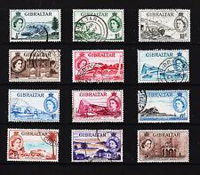 Gibraltar.  Q.E.II 1953 (sg 145 - 156) 1/2d.- 5/- F.U.