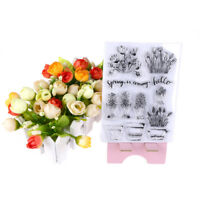 Transparent Clear Silicone Stamps Flowers pots for DIY Scrapbooking Card MakiDD