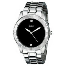NEW GUESS WATCH Men * Mostly Polished Stainless Steel * Black Dial * U0416G1