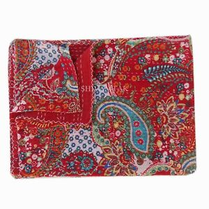 Indian Handmade Embroidery Twin Size Kantha Blanket Throw Bedspread 150cmx225cm