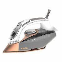 Breville DiamondXpress 3100W Steam Iron with Diamond Ceramic Soleplate Rose Gold