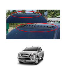 On Isuzu D-max Holden Rodeo 16 17 LED Front Roof Spoiler Cover Matte Black 1 Pc