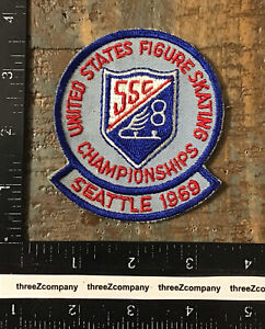 Vintage UNITED STATES FIGURE SKATING CHAMPIONSHIPS Seattle Washington 1969 Patch