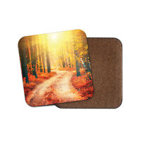 Forest Trail Coaster - Autumn Woodland Nature Trees Camping Hiking Gift #14810