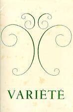 VARIETE' Revue française des lettres et des arts, 1946 - N. 2