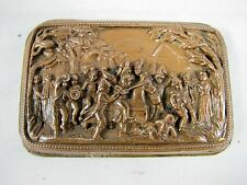 FRENCH BRONZE PLAQUE INSERT C1830'S