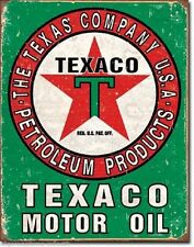 Texaco Gas Oil Weathered Service Garage Vintage Style Star Metal Tin Sign New