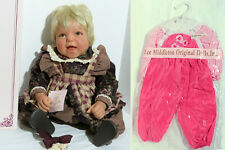 """Lot: Lee Middleton Reva Schick By Gone Days 19"""", Pink Gingham Overalls w blouse"""
