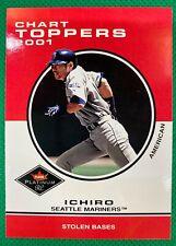 ⭐️👀  2001 Fleer Platinum #420 Ichiro Suzuki CT RC Rookie Mariners 👀⭐️