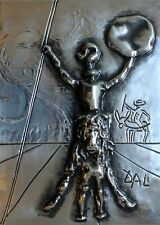 "Salvador Dali ""Don Quixote"" bronze sculpture museumy framed hansomely grt invest"