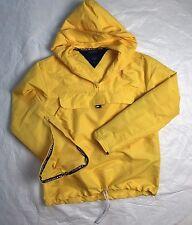VTG Tommy Hilfiger TOMMY GIRL Windbreaker Jacket Sz M Yellow Pullover Hood 90s