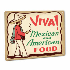 Viva Mexican Food Sign Restaurant Diner Cafe Taco Stand Chile Seasoning Salsa