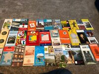 Lot of Vintage Germany, France, Europe road maps, hotels, sightseeing maps Etc
