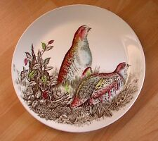"Johnson Bros Game Birds 'PARTRIDGE' 8.25"" PLATE, Retro, vintage, shabby chic"
