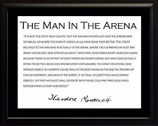 Theodore Teddy Roosevelt Man In The Arena Black Border Framed Photo Picture 8x10