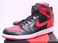 Air Jordan Retro 1 Bred Banned Black Red Sneakers Men's 7.5-14 2013 555088-023