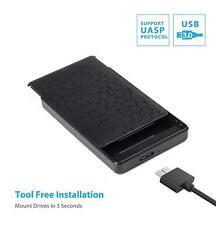 Salcar USB 3.0 externe 2,5 Zoll SATA SSD Festplatte Gehäuse HDD Gehäuse schwarz